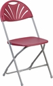 HERCULES Series 800 lb. Capacity Burgundy Plastic Fan Back Folding Chair [LE-L-4-BUR-GG]