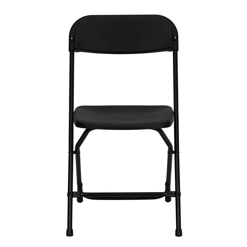 HERCULES Series 800 Lb. Capacity Premium Black Plastic Folding Chair  [LE L 3 BK GG]