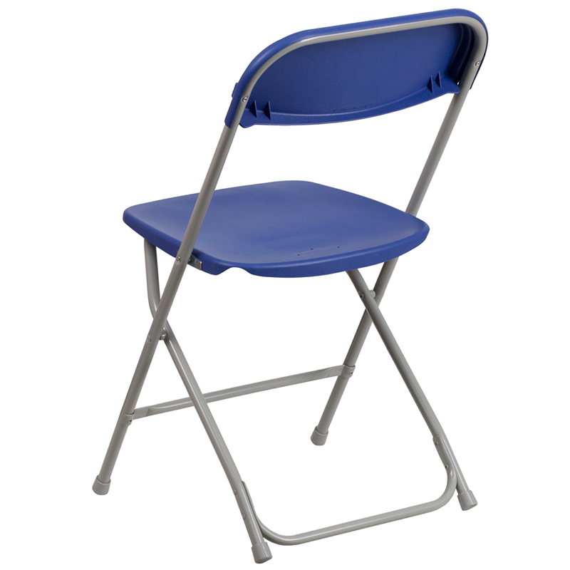 HERCULES Series 800 Lb. Capacity Premium Blue Plastic Folding Chair  [LE L 3 BLUE GG]