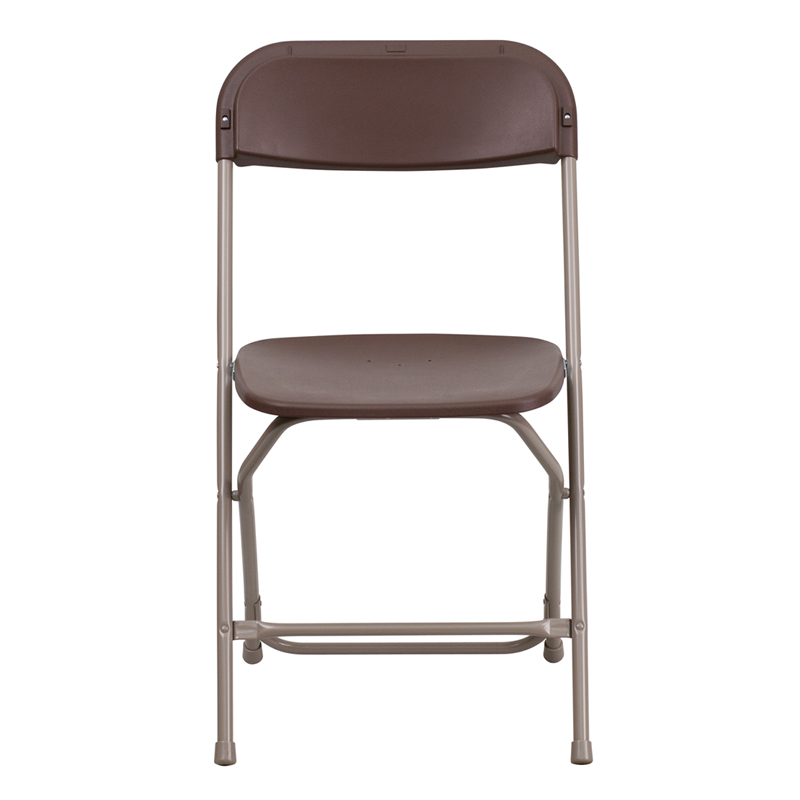 HERCULES Series 800 Lb. Capacity Premium Brown Plastic Folding Chair  [LE L 3 BROWN GG]