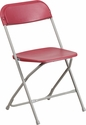 HERCULES Series 800 lb. Capacity Premium Red Plastic Folding Chair [LE-L-3-RED-GG]