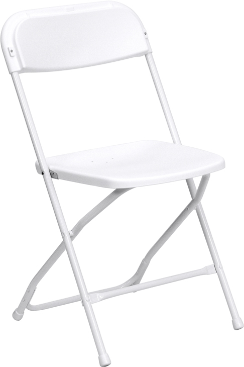 HERCULES Series 800 Lb. Capacity Premium White Plastic Folding Chair  [LE L 3 WHITE GG]