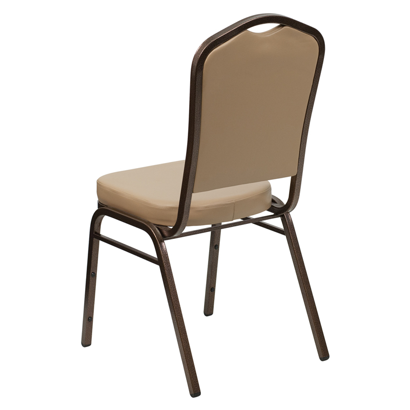 HERCULES Series Crown Back Stacking Banquet Chair In Tan