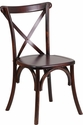 HERCULES Series Fruitwood Cross Back Chair with Free Cushion [XS-1-F-GG]