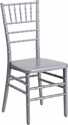 HERCULES PREMIUM Series Silver Resin Stacking Chiavari Chair with Free Cushion [BH-SILVER-GG]