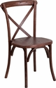 HERCULES Series Stackable Mahogany Wood Cross Back Chair [XU-X-MAH-GG]