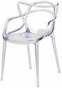 Kids Clear Polycarbonate Baby David Chair with Arms [KRPC-101-CL-CSP]