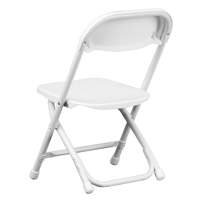 Kids white plastic folding chair y kid wh gg for White childrens chair