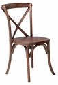 Rustic Sonoma Solid Wood Cross Back Stackable Dining Chair - Marian Fruitwood [W-706-X02-MFRW-CSP]