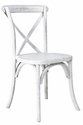 Rustic Sonoma Solid Wood Cross Back Stackable Dining Chair - White Wash [W-701-X02-WWASH-CSP]