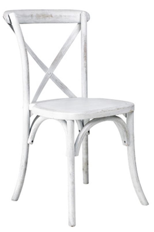 rustic sonoma solid wood cross back stackable dining chair white wash w 701 x02 wwash. Black Bedroom Furniture Sets. Home Design Ideas