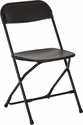 Work Smart Plastic Folding Chair - Set of 4 - Black [RC883A4-OS]