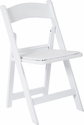 Work Smart Wedding Folding Chair with Resin Frame and Padded Seat - Set of 4 - White [WC7287-11-OS]