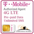 1GB Monthly 4G LTE/  (Unlimited SMS) Pre-Paid for 3 Months on T-Mobile (USA)