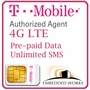 1GB Monthly 4G LTE/  (Unlimited SMS) Pre-Paid for 6 Months on T-Mobile (USA)