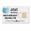 1GB per month monthly for 3 months SIM Data Plan--ATT M2M SIM CARD - 4G LTE DEVICES ONLY (USA ONLY)