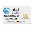 100MB per month monthly for 6 months SIM Data Plan--ATT M2M SIM CARD (USA)