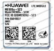 Huawei ME909U-523D 4G LTE Cat. 3 w/ 3G Fallback Module: LGA Surface Mount with GPS AT&T - USA Certified
