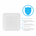 PL-E600PUSA-US - Cambium cnPilot E410 Enterprise Indoor DualBand 802.11ac wave2 4x4 AP (FCC) with PoE Injector, 1-Yr 24/7 Support & 1-Yr Ext. Warranty