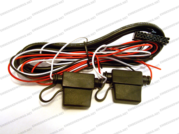 power harness 20 pin 3 wire with fuse 8 ft 17 calamp power harness, 20 pin, 3 wire with fuse, 8 ft pn 5c848 8 Wire Harness Assembly at honlapkeszites.co