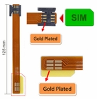 Mini-SIM Card Extender w/ Flexible Printed Circuit cable (125mm)