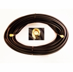 SMA male with 50 feet of CLF200 (low-loss) cable +SMA-male connector