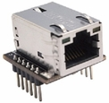 WIZ820io Module - TCP/IP to SPI Embedded Ethernet Controller Module <br/> Wiznet W5200 IC with RJ45 mag-jack