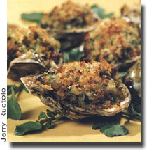 Broiled Oysters with Watercress - Prep. Time 40 Minutes