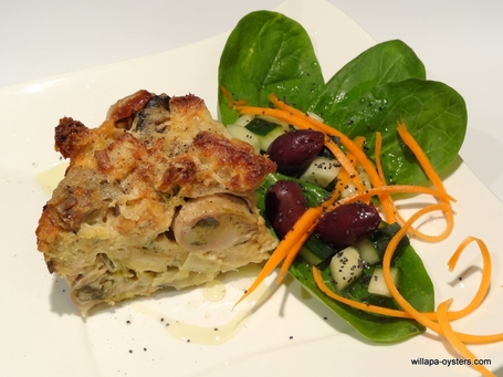 Savory Oyster Pudding 2.5 lb - <font color=red>2 Casseroles - <br>Free Standard Shipping</font>