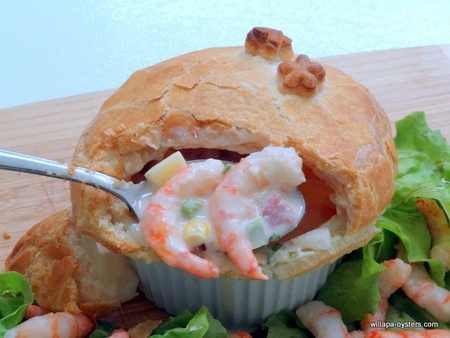 </font>Shrimp Pot Pie- <font color=red> 4 Ramekins - <br> Free Standard Shipping</font>