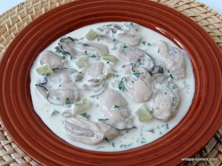 """Willapa Oyster Stew - <font face color=red> Three Quarts </font> <br><Font Face= """"Times New Roman, Times, Serif""""COLOR=#0101DF  SIZE=4><b>Gluten-free</b></font><br><font face color=red> Free Standard Shipping</font>"""