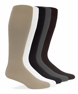 1002 Mens Nylon Rib Dress Over the Calf Sock