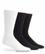 1045 Mens Mercerized Cotton Rib Crew Dress Sock