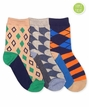 1119 Funky Diamond Dress Socks Triple Treat 3 Pair Pack