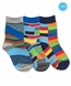 1160 Funky Stripe Crew 3 Pair Pack