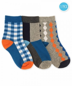 1162 Gingham/Color Block/Argyle Crew 3 Pair Pack