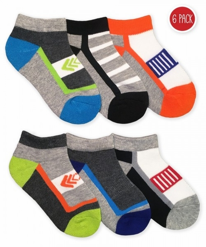 1177 Boy Sporty Low Cut 6 Pair Pack