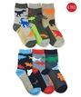 1184 Water & Land Animals Crew 6 Pair Pack