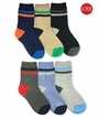 1190 Multi Boy Stripe Crew 6 Pair Pack