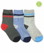 1192 Multi Boy Stripe Heather Crew Triple Treat 3 Pair Pack