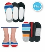 1199 Rugby Stripe Footie 3 Pair Pack
