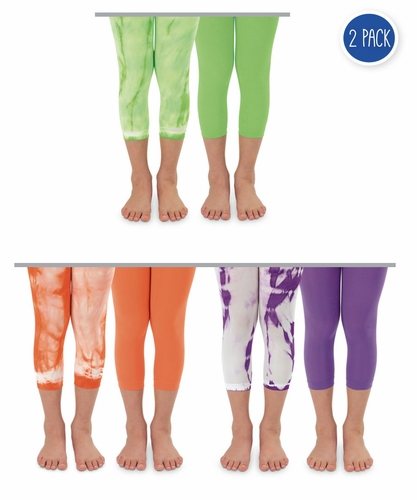 Girls : Neon Capri Tights 2 Pack