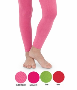 Girls Pima Cotton Footless Tights