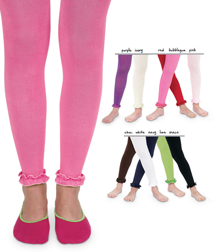 Baby Pima Cotton Ruffle Footless Tights