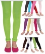 Toddler and Girls Pima Cotton Ruffle Footless Tights