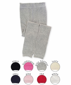 1577 Baby Scalloped Pima Cotton Footless Tights