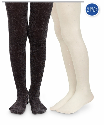 1588 Diamond & Lurex Tights 2 Pair Pack