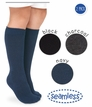 Seamless Knee High 2 Pack; Black, Charcoal & Navy