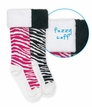 1634 Zebra Fuzzy Cuff Knee High
