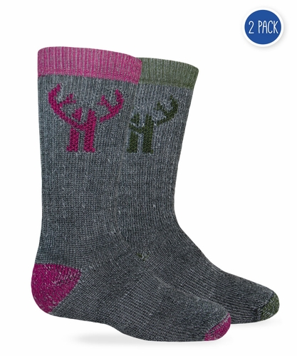 20874 Huntworth Kids Merino Wool Blend Boot Sock 2 Pair Pack